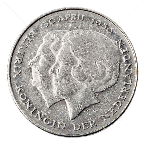 Isolated 1 Gulden - Heads Frontal Stock photo © eldadcarin