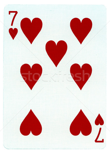 Playing Card - Seven of Hearts Stock photo © eldadcarin