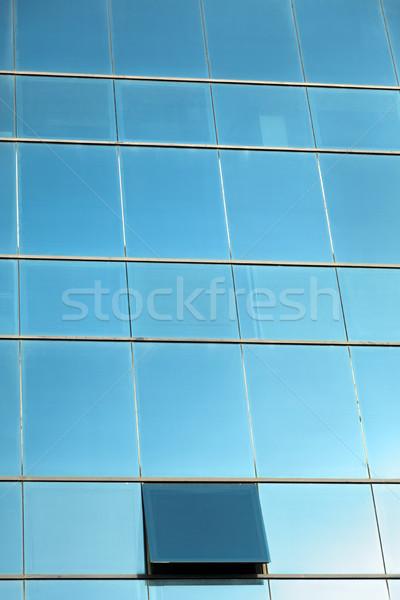Kurtyny ściany okno biurowce Zdjęcia stock © eldadcarin