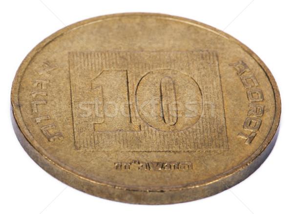 изолированный 10 сторона израильский цент Сток-фото © eldadcarin