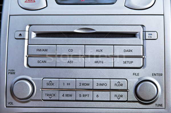 Car Radio + CD Player Close Up Stock photo © eldadcarin