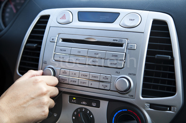 Car Stereo - Adjusting the Volume Stock photo © eldadcarin
