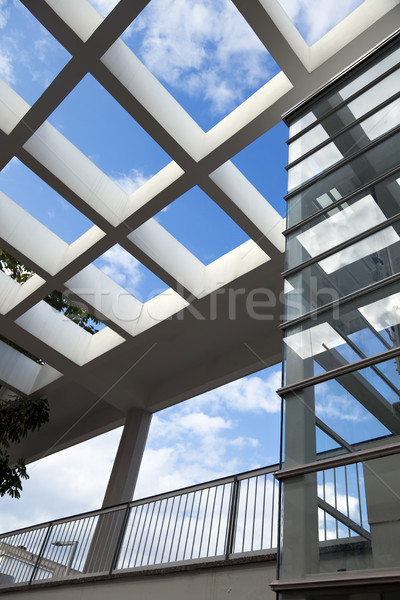 Pergola & Elevator Shaft Architecture Stock photo © eldadcarin