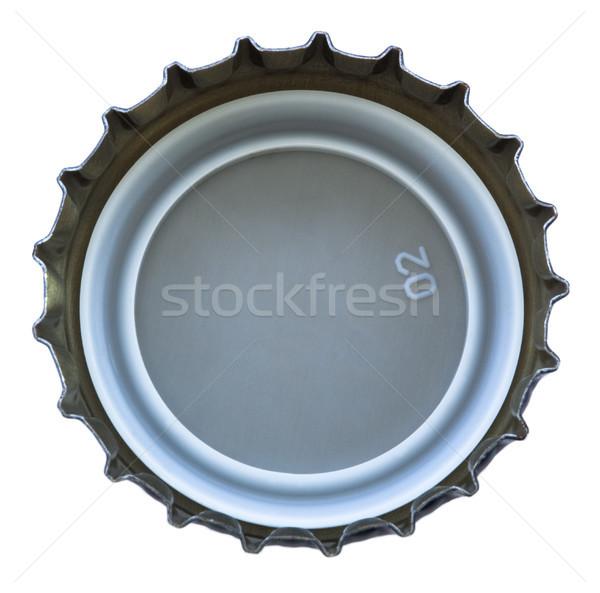 Bent fém sapka izolált fenék használt Stock fotó © eldadcarin