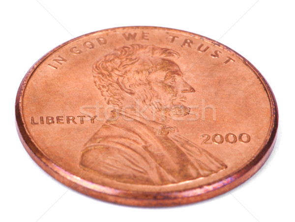 Isolated Penny - Both Sides High Angle Stock photo © eldadcarin