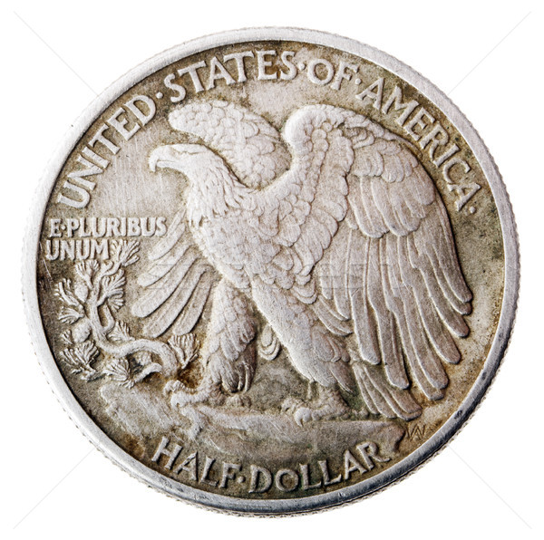 Walking Liberty Half Dollar - Tails Frontal Stock photo © eldadcarin