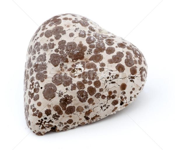 изолированный сердце шоколадом белый любви Сток-фото © eldadcarin