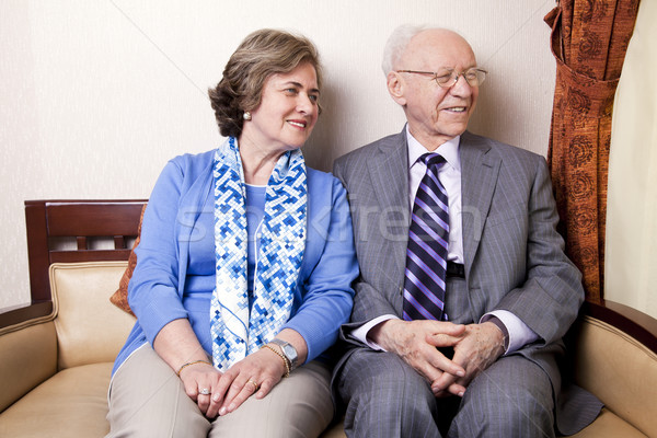 Elderly Couple Looking Away Stock photo © eldadcarin