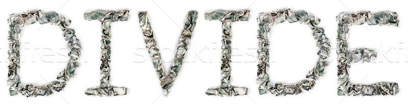 Divide - Crimped 100$ Bills Stock photo © eldadcarin