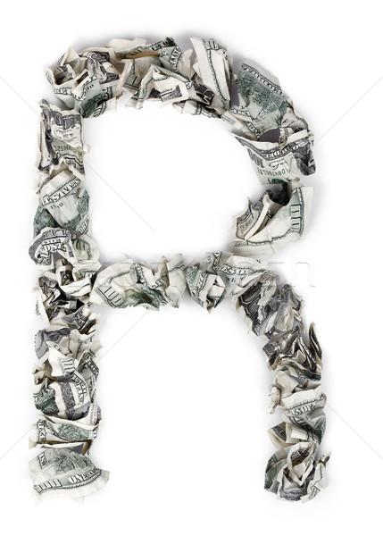 R betű 100 számlák ki izolált fehér Stock fotó © eldadcarin