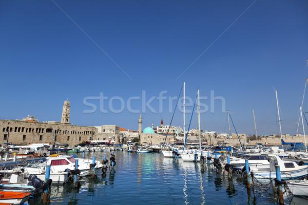 Old Acco Harbour Stock photo © eldadcarin