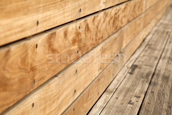 Wooden Bench Close Up Stock photo © eldadcarin