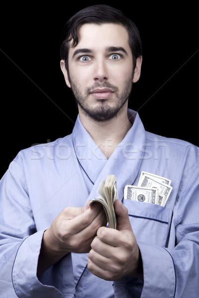удивленный богатых Бум взрослый человека Сток-фото © eldadcarin