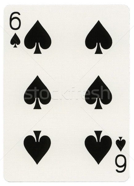 Stock photo: Playing Card - Six of Spades