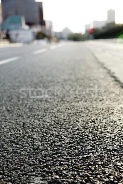 Vuota urbana strada superficie livello grandangolo Foto d'archivio © eldadcarin