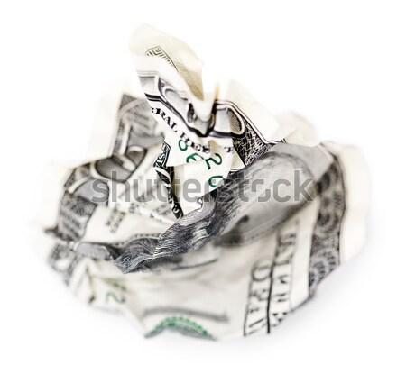 Hyphen / Minus - Crimped 100$ Bills Stock photo © eldadcarin