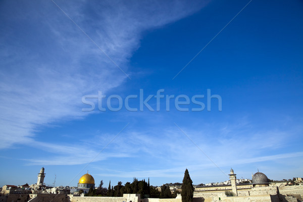 Cúpula rock vista templo edad ciudad Foto stock © eldadcarin
