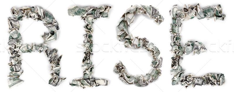 Rise - Crimped 100$ Bills Stock photo © eldadcarin