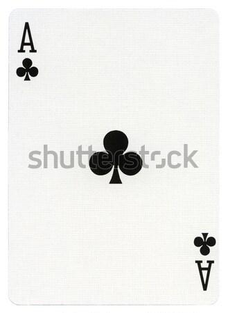 Jouer carte ace isolé blanche professionnels Photo stock © eldadcarin