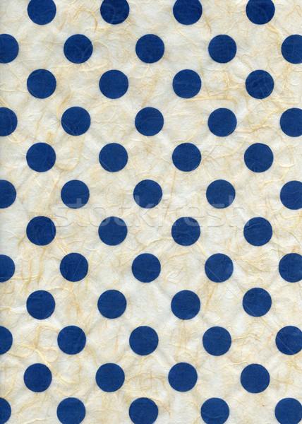 Pirinç kağıt dokusu mavi lekeli yüksek karar Stok fotoğraf © eldadcarin