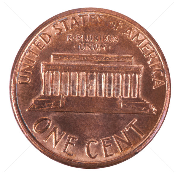 Isolated Penny - Tails Frontal Stock photo © eldadcarin