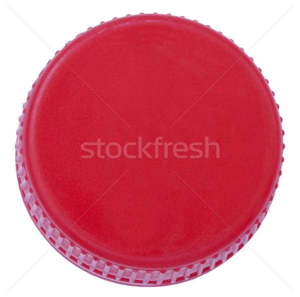 Isolado vermelho plástico boné garrafa branco Foto stock © eldadcarin