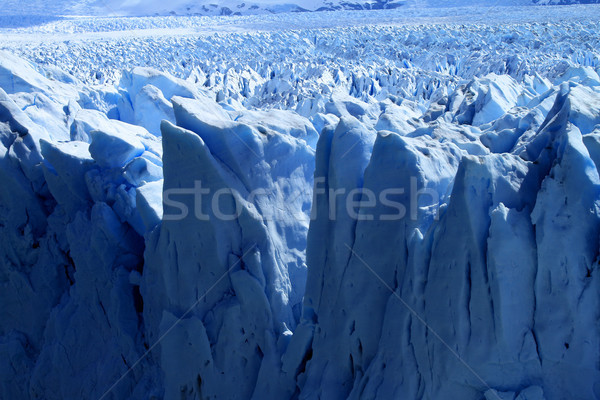 Foto d'archivio: Ghiacciaio · view · sud · america · natura · neve · montagna