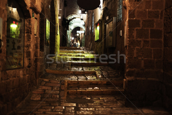 öreg este sikátor idő tipikus város Stock fotó © eldadcarin