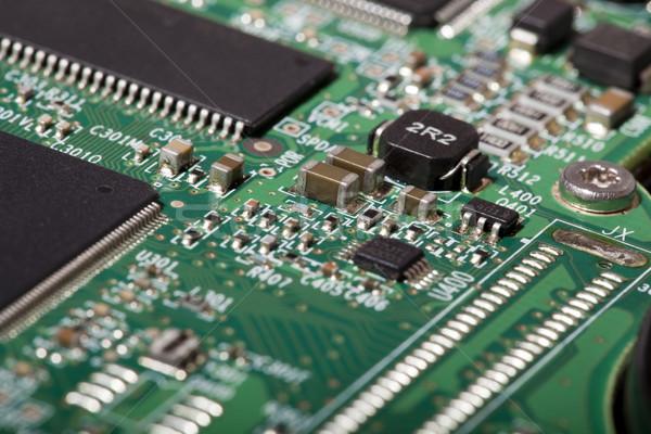 Dysk twardy elektronicznej pokładzie elektroniki komputera Zdjęcia stock © eldadcarin