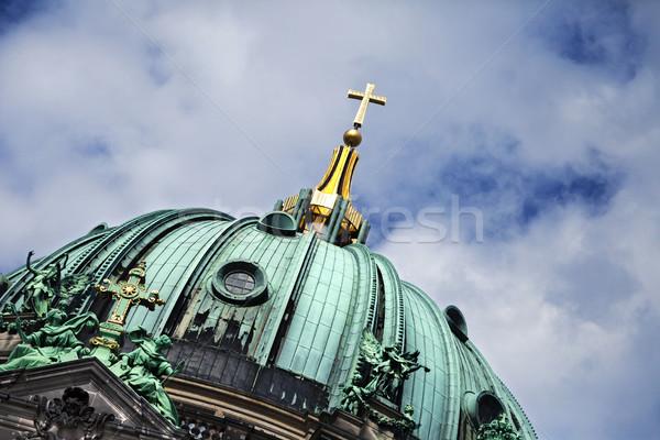 Kopuła mętny niebo widoku zielone słynny Zdjęcia stock © eldadcarin