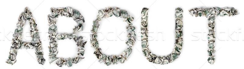 Stockfoto: 100 · woord · uit · geïsoleerd · witte