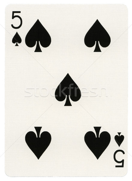 Playing Card - Five of Spades Stock photo © eldadcarin