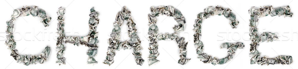 Charge - Crimped 100$ Bills Stock photo © eldadcarin