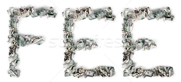 Fee - Crimped 100$ Bills Stock photo © eldadcarin