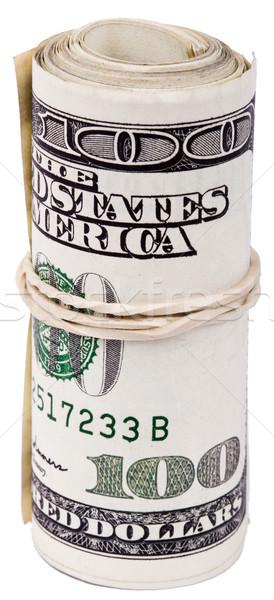 катиться 100 американский долларов Сток-фото © eldadcarin