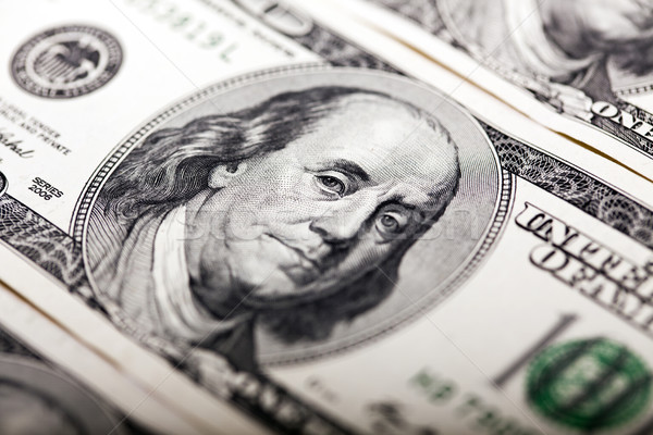 Benjamin Franklin 100 Dollar Bill Portrait Stock photo © eldadcarin