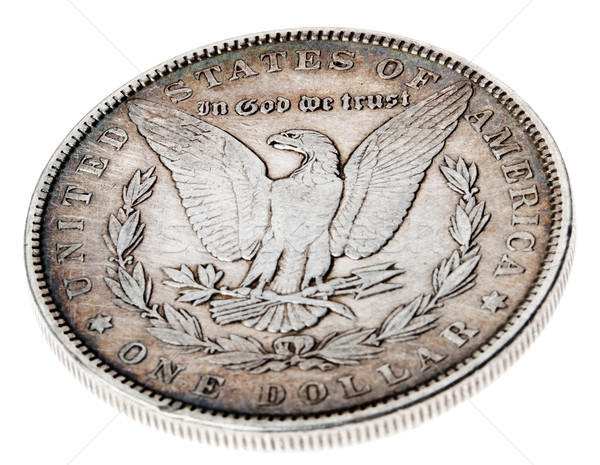 Morgan Dollar - Tails High Angle Stock photo © eldadcarin