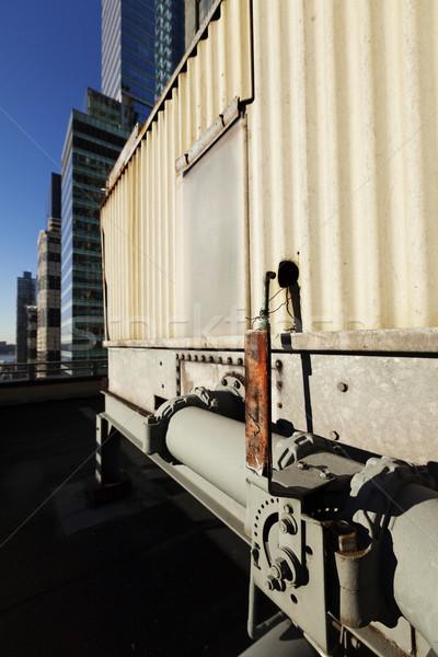 Agua tubería palanca Manhattan nivel metal Foto stock © eldadcarin