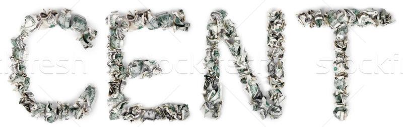 цент 100 слово из изолированный Сток-фото © eldadcarin