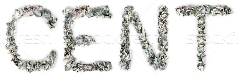 Cent - Crimped 100$ Bills Stock photo © eldadcarin