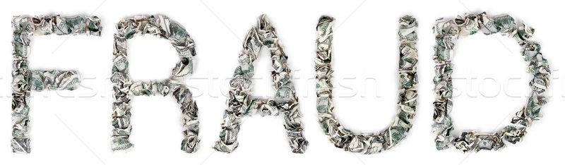 Fraud - Crimped 100$ Bills Stock photo © eldadcarin