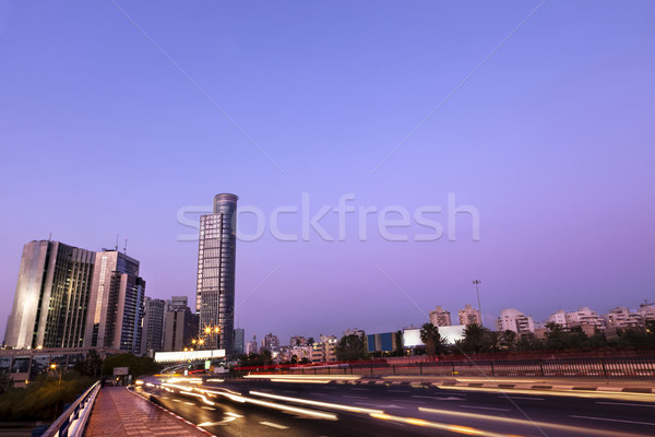 Downtown District Entrance at Dusk Stock photo © eldadcarin