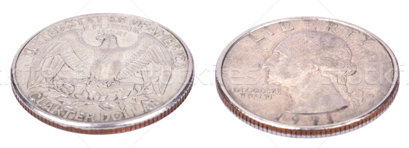 Isolated Quarter - Both Sides High Angle Stock photo © eldadcarin