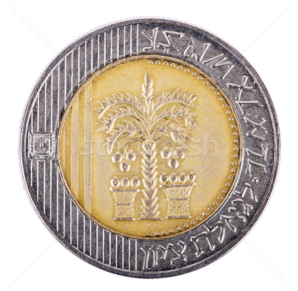 Isolated 10 Shekels - Heads Frontal Stock photo © eldadcarin
