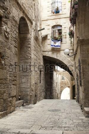 Stockfoto: Oude · Jeruzalem · steegje · kwartaal · stad · Israël