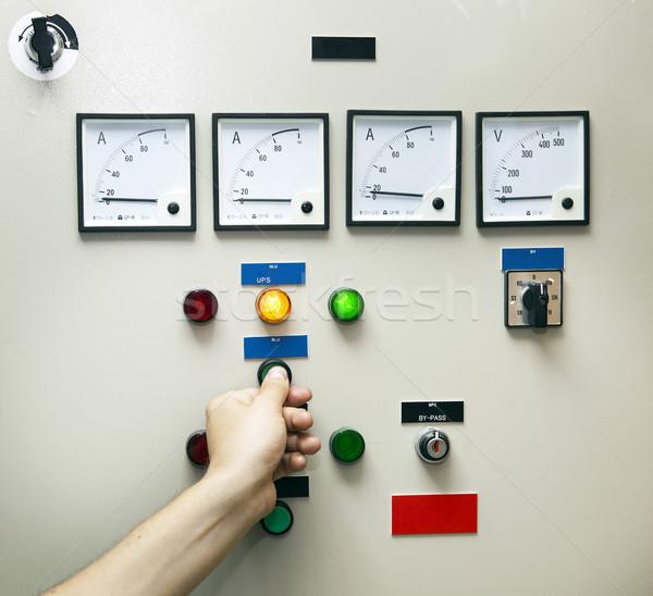 Elettrica controllo monitor distribuzione test unità Foto d'archivio © eldadcarin