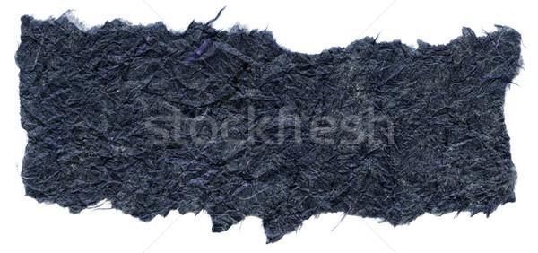 Isolated Rice Paper Texture - Navy Blue XXXXL Stock photo © eldadcarin