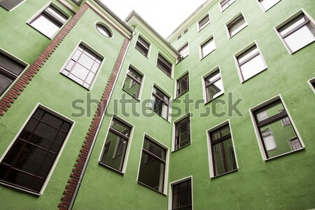 Berlin Green Building Low Angle - Cross Process Vintage Stock photo © eldadcarin