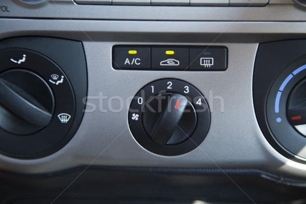 Car Air Conditioning Control Panel Stock photo © eldadcarin