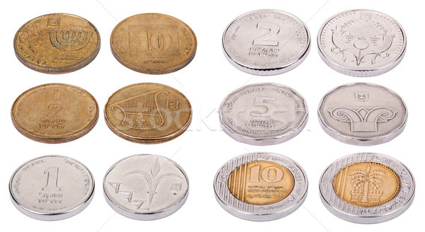 Israeli Coins - High Angle Stock photo © eldadcarin